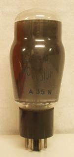 Régulatrice A35N  RADIO CELSIOR  culot Octal 6 pins Poids : 40 grammes Hauteur : 11.9 cm Diamètre : 4.5 cm