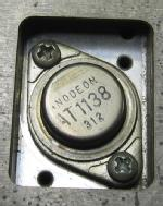 Anodeon AT1138 fitted to an E.I.L. car radio.