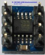 IC eingebaut in ein UKW-Abstimm-Baustein.