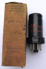 A Canadian Marconi 12SC7 valve with its Canadian Armed Forces box dated 1944