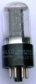 A Canadian Philco 35Z5GT valve.