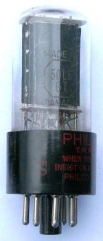 A Canadian made Philco 50L6GT valve