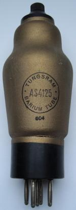 AS4125 TUNGSRAM BARIUM TUBE 5 pins