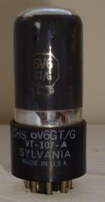 6V6GT/G SYLVANIA 7 pins Hauteur 79 mm Diamètre 28 mm
