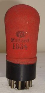 EB34 BVA Mullard 7 pins Hauteur 73 mm Diamètre 30 mm