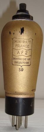 AF2 Miniwatt 5 pins Hauteur 149 mm Diamètre 49 mm