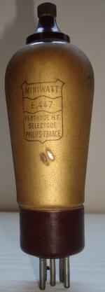 E447 Miniwatt 5 pins Hauteur 156 mm Diamètre 49 mm