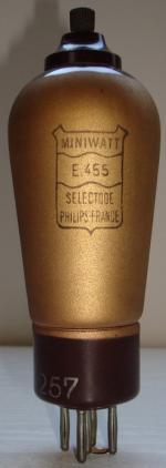 E455 Miniwatt 5 pins Hauteur 145 mm Diamètre 48 mm