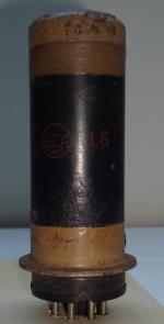 6L6 RCA Radiotron Hauteur 107 mm Diamètre 31 mm