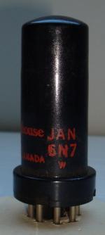 6N7 westinghouse Hauteur 80 mm Diamètre 25 mm