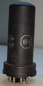 6F6 RCA Hauteur 80 mm Diamètre 25 mm