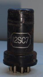 12SC7 KEN-RAD Hauteur 65 mm Diamètre 25 mm