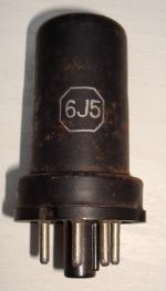 6J5 RCA Hauteur 64 mm Diamètre 25 mm