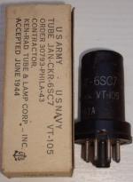 6SC7 JAN-CKR Hauteur 65 mm Diamètre 25 mm