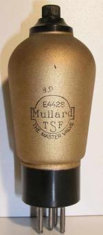 Mullard  Culot ancien Européen 5 pin   1 thick Poids : 59.3 grammes Hauteur : 13.2 cm (avec pin   thick) Diamètre : 5.1 cm