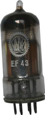 EF43 von Valvo für HF/ZF-Stufe