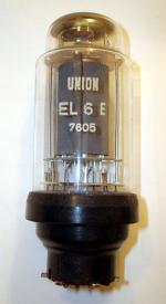 Röhre arbeitete mit einer El6 spez zusammen im Gegentakt in einem Bleuel-Misch-Verstärker.