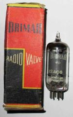 A British made Brimar 12AC6 valve for use in car rsdios