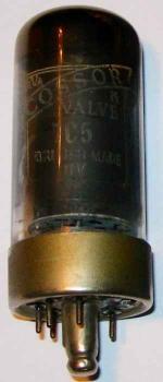A Cossor 7C5 valve