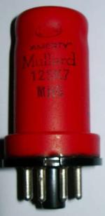 A Mullard 12SK7 valve