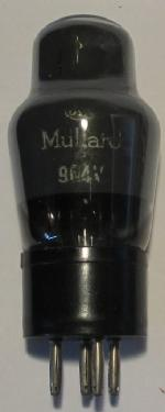 A Mullard 904V valve without metallised coating.