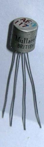 A Mullard AF117 Germanium transistor