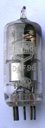 A Mullard DAF96 valve.
