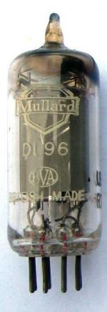 A Mullard DL96 valve.