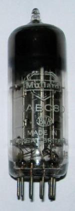 A Mullard UABC80 valve