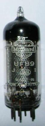 A Mullard UF89 valve