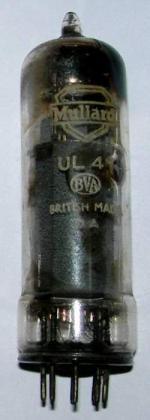 A Mullard UL41 valve