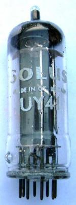 A Solus brand UY41 rectifier valve