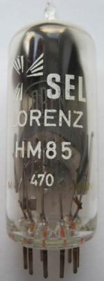 Man beachte den Aufdruck. Unter dem 'SEL-LORENZ', sieht man noch den ursprünglichen LORENZ Aufdruck. Offensichtlich wurde die Röhre firmenintern umgelabelt.