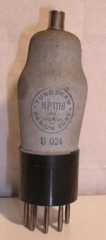 Tungsram  Culot ancien Européen 6 pins   1 thick Poids : 50.3 grammes Hauteur : 12.3 cm Diamètre :3.9 cm