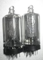 pair of ITT made in ingland nixe tubes, note the small getter ring