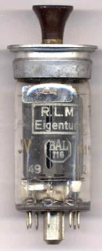 Telefunken LS50 dated week 49 of 1942. Also has JV and nr. 111184/1042/IV stamped in gold lettering.  See LS50 tube page for further picture.