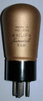 A new old stock Philips E438 valve