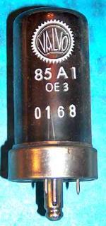 Röhre aus Netzteil einer ausgemusterten Röntgenanlage entnommen. Erster Einsatz am 27.09.1956.