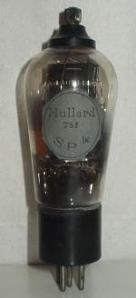 Mullard  Culot ancien Européen  5 pins   1 thick Poids : 63 grammes Hauteur : 15 cm (avec pins et thick) Diamètre : 5 cm