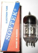 A 12AX7WA valve made in Russia USSR with the Sovtek brand name.