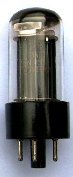 A Sovtek 5Y3GT valve built in the USSR.