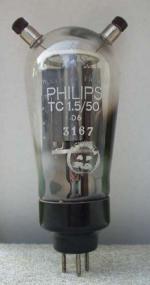 Triode Philips 3 pin - 2 thick Importé de Hollande