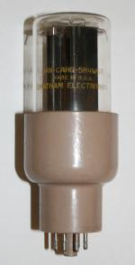 JAN-CAHG-5R4WGB Rectifier tube, made in the USA by Chatham Electronics for the United States Military.  (JAN = Joint Army Navy)
