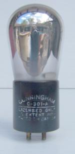 Cunningham C301A Triode Tube