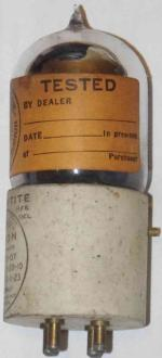 Alternate view, showing the other portion of the DeForest label - as well as a unit with a silvered envelope (vs. clear).