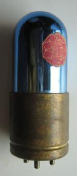 rarissima valola GEM in vetro blucon base in ottone.