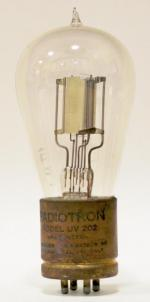 Radiotron UV 202.  Note faint 'RC' logo etched into glass bulb.