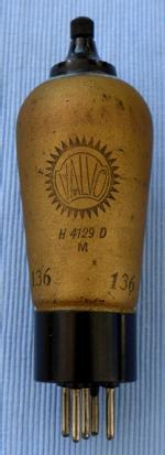 Valvo_H4129D_Valvo Logo ohne Bezeichnung 'HF Penthode Selectode' Gold Farbe