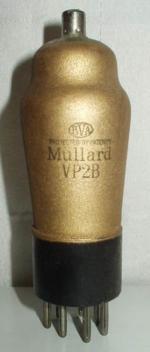 VP2B   Mullard 7 pin   1 thick Poids : 54 grammes Hauteur : 12.5 cm ( avec pin et thick) diamètre au plus large : 4.2 cm
