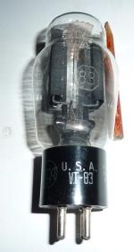 According to the tube handbook of the Muiderkring ( editions 3, 4 and 10) the VT 83 equivalents are CV2547 and 83V. This tube is marked on the base VT83 and on the glass 83.......